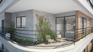 דירה טיפוסית סטרומה-מרפסת